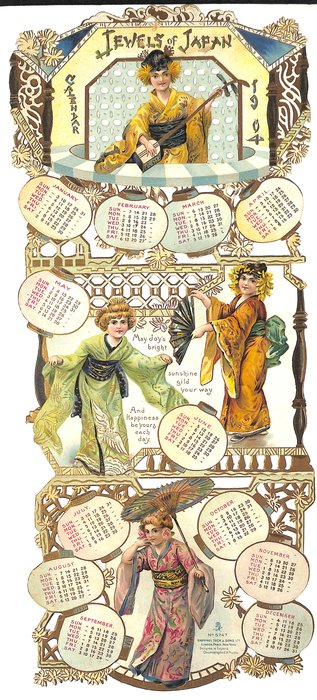 JEWELS OF JAPAN CALENDAR FOR 1904