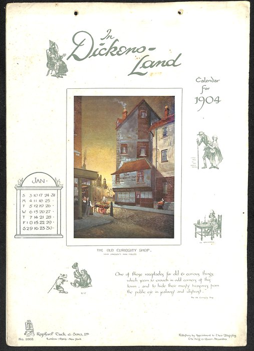 IN DICKENS-LAND CALENDAR FOR 1904