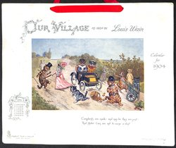 OUR VILLAGE AS SEEN BY LOUIS WAIN CALENDAR FOR 1904