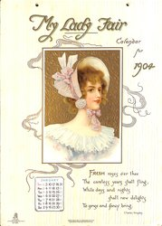 MY LADY FAIR CALENDAR FOR 1904