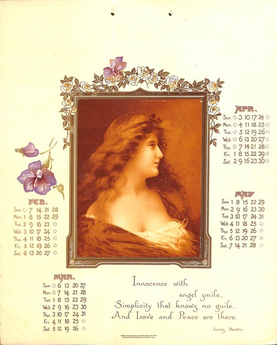 A DREAM OF BEAUTY CALENDAR FOR 1904