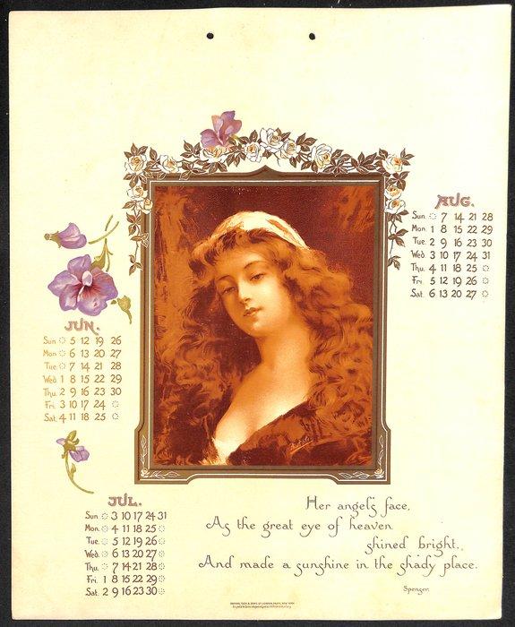 A DREAM OF BEAUTY CALENDAR FOR 1904