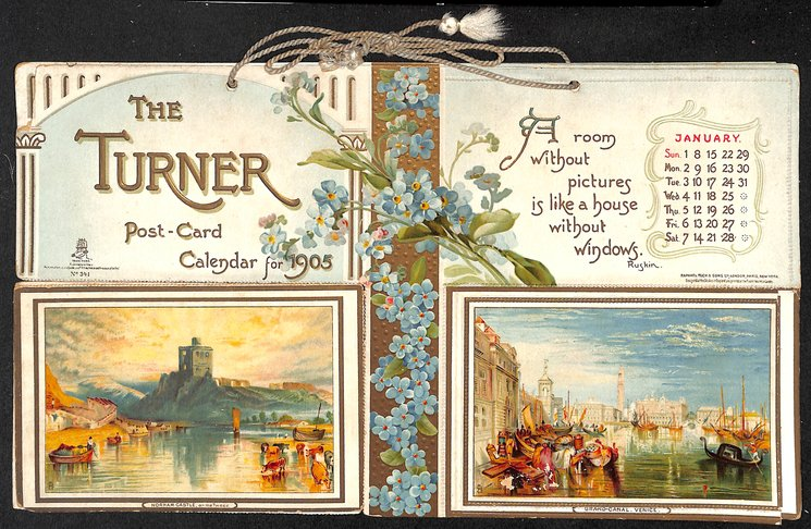 THE TURNER POST-CARD CALENDAR FOR 1905