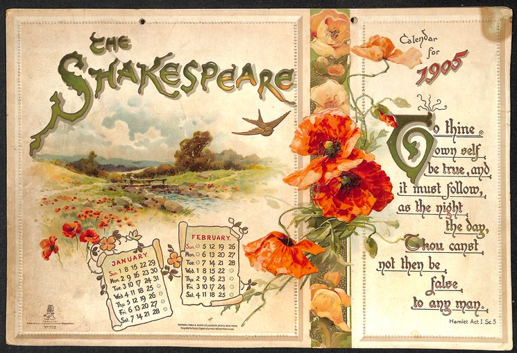 THE SHAKESPEARE CALENDAR FOR 1905