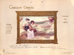 GRECIAN GRACES CALENDAR FOR 1905