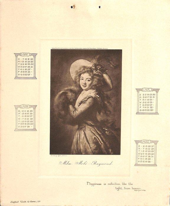 WORLD FAMED PICTURES CALENDAR FOR 1905