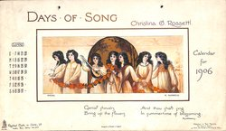 DAYS OF SONG CALENDAR FOR 1906