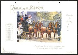 REINS AND RIBBONS CALENDAR FOR 1906