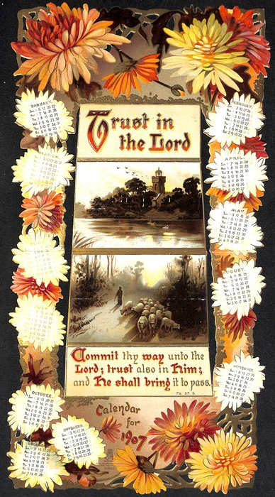 TRUST IN THE LORD CALENDAR FOR 1907