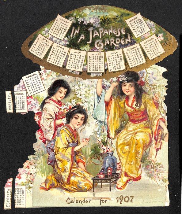 IN A JAPANESE GARDEN CALENDAR FOR 1907