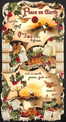 PEACE ON EARTH CALENDAR FOR 1907