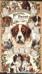 FAITHFUL FRIENDS CALENDAR FOR 1907