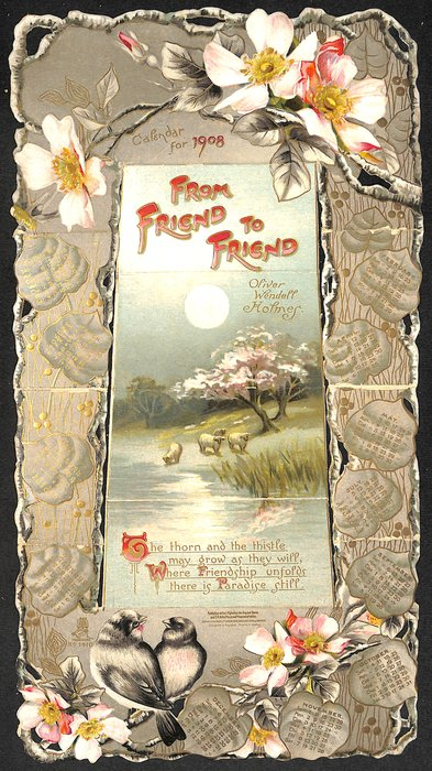 FROM FRIEND TO FRIEND CALENDAR FOR 1908