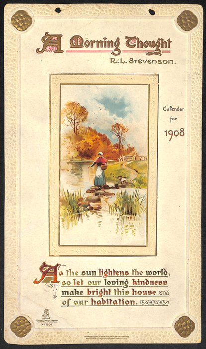 A MORNING THOUGHT CALENDAR FOR 1908