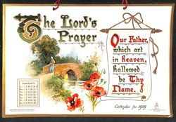 THE LORD'S PRAYER CALENDAR FOR 1909