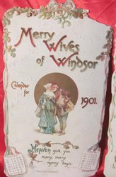 MERRY WIVES OF WINDSOR CALENDAR FOR 1901