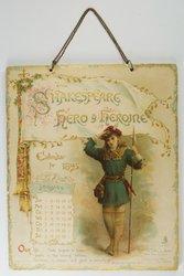 SHAKESPEARE HERO & HEROINE CALENDAR FOR 1895