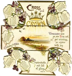 CROSS AND CROWN CALENDAR FOR 1902