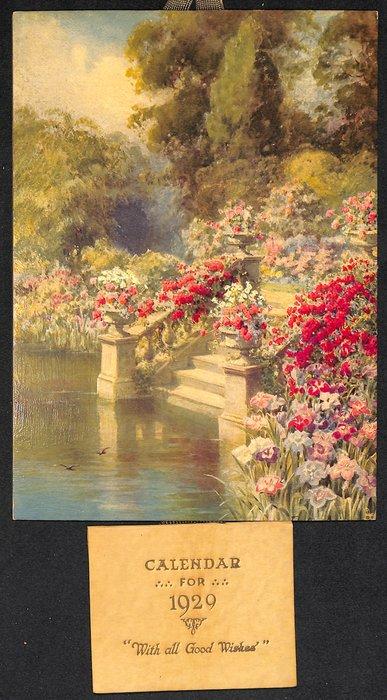 WHERE FLOWER LOVERS LINGER (title on reverse)