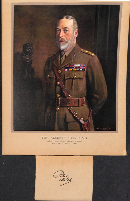 HIS MAJESTY THE KING. COLONEL-IN-CHIEF, THE KING'S REGIMENT (LIVERPOOL) .