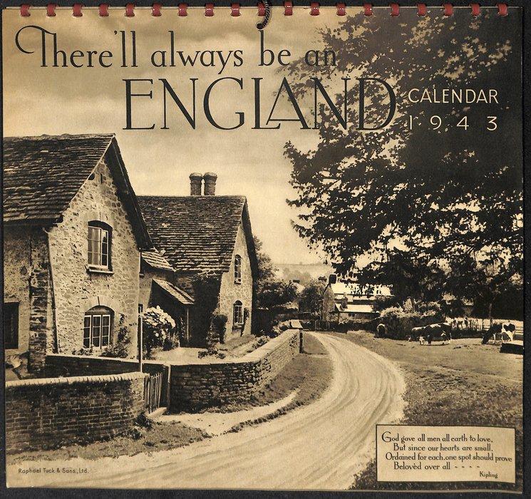 THERE'LL ALWAYS BE AN ENGLAND CALENDAR 1943