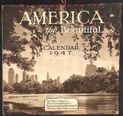 AMERICA THE BEAUTIFUL CALENDAR 1947