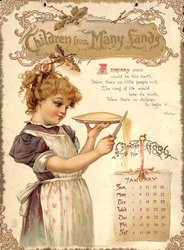 CHILDREN FROM MANY LANDS CALENDAR FOR 1896
