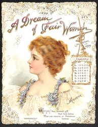 A DREAM OF FAIR WOMEN CALENDAR FOR 1899