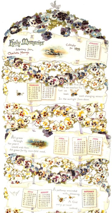 HOLY MEMORIES CALENDAR FOR 1899, SELECTIONS FROM CHARLOTTE MURRAY