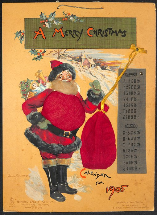 A MERRY CHRISTMAS CALENDAR FOR 1905
