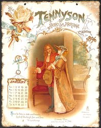 THE TENNYSON HERO AND HEROINE CALENDAR FOR 1896