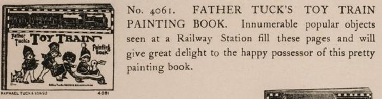FATHER TUCK'S TOY TRAIN PAINTING BOOK