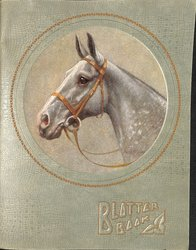 BLOTTER BOOK horse head with bridle, circular image