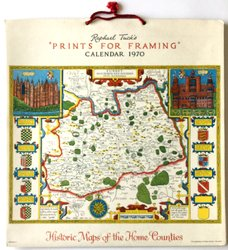 PRINTS FOR FRAMING, HISTORIC MAPS OF THE HOME COUNTIES