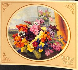 BLOTTER BOOK flowers in vase circular image