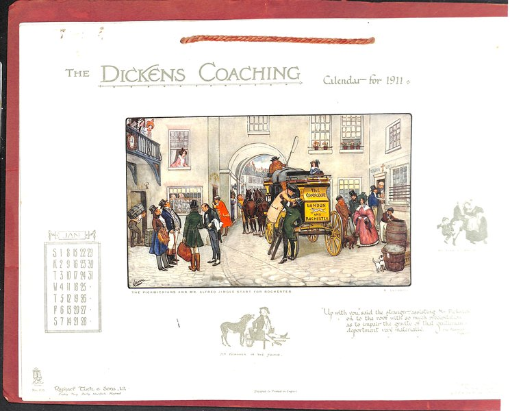 THE DICKENS COACHING CALENDAR FOR 1911