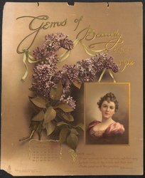 GEMS OF BEAUTY CALENDAR  FOR 1902