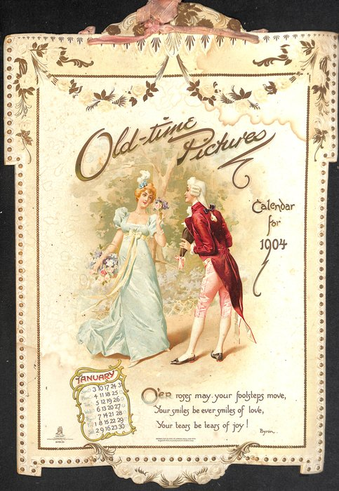 OLD-TIME PICTURES CALENDAR FOR 1904