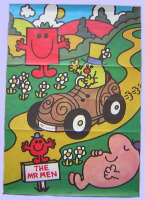 THE MR. MEN main character drives a shoe shaped car