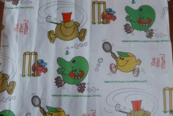 THE MR. MEN white background with characters playing sports