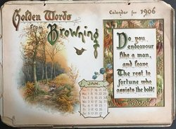 GOLDEN WORDS FROM BROWNING CALENDAR FOR 1906