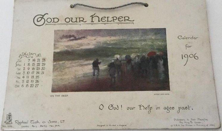 GOD OUR HELPER CALENDAR FOR 1906