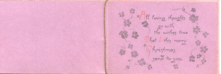 HAPPY DAYS (H & D illminated) below right, violets  left & around