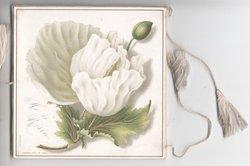 JOYOUS EASTER on white plaque on back, front HE IS RISEN white tulip & bud