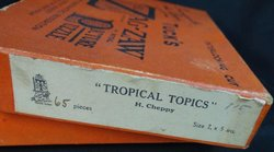 TROPICAL TOPICS, birds and flowers in a tropical garden