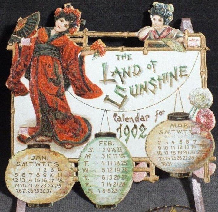 THE LAND OF SUNSHINE CALENDAR FOR 1902