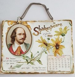 SHAKESPEARE CALENDAR FOR 1899