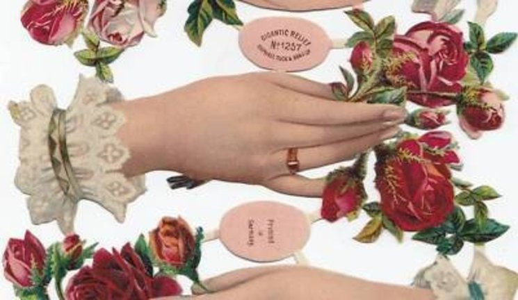 hands and roses