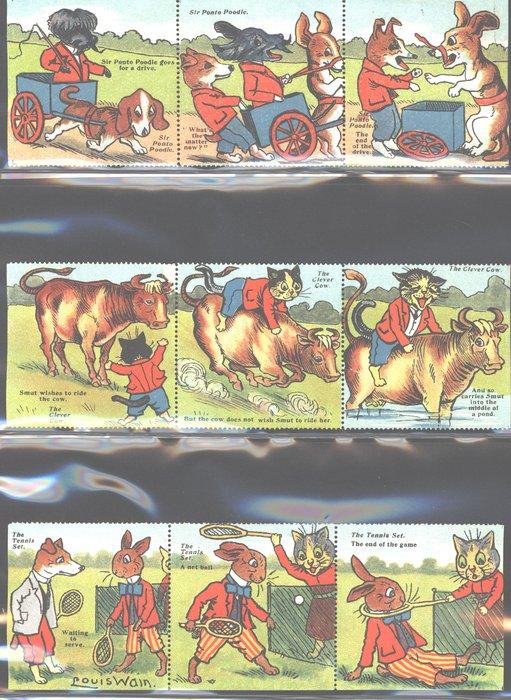 NURSERY RHYMES, & HUMOROUS ANIMALS BY LOUIS WAIN, SERIES II
