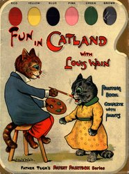 FUN IN CATLAND WITH LOUIS WAIN PAINTING BOOK